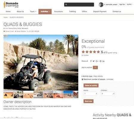 Creation site web pour nomadexperience.com