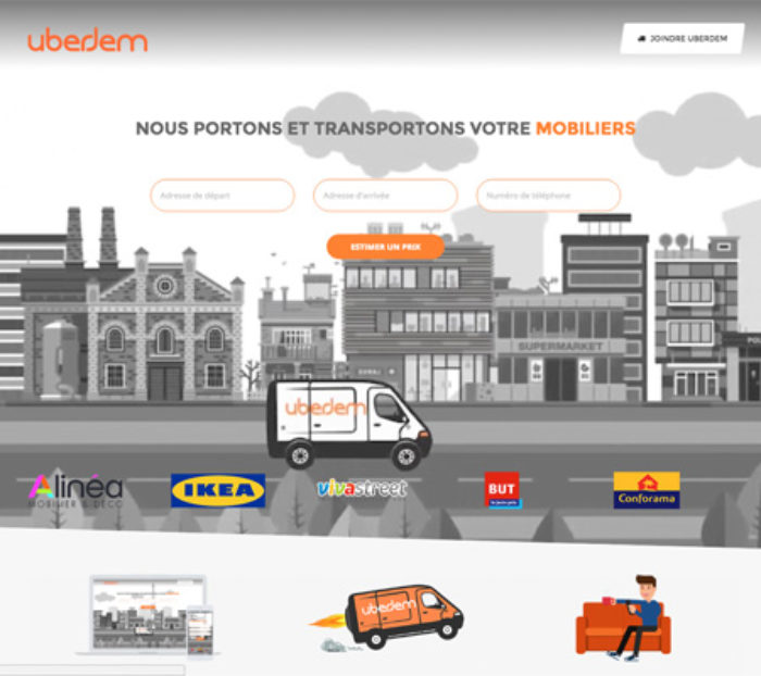 creation site web pour uberdem.com