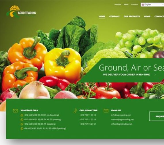 Creation site web Agrotrading