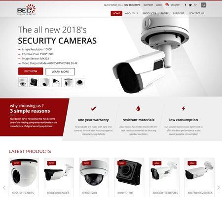 Creation site web BecTechnology