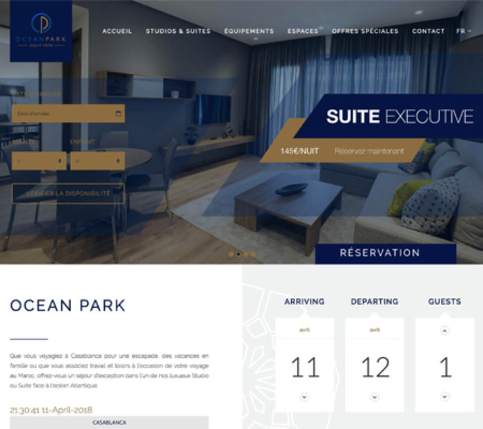 Creation site web OceanPark Hotel