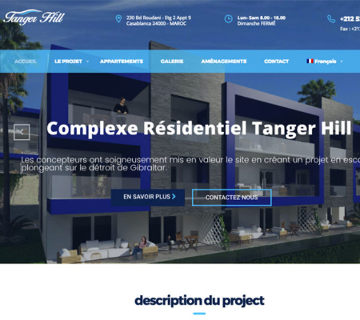 Creation site web Tanger hill
